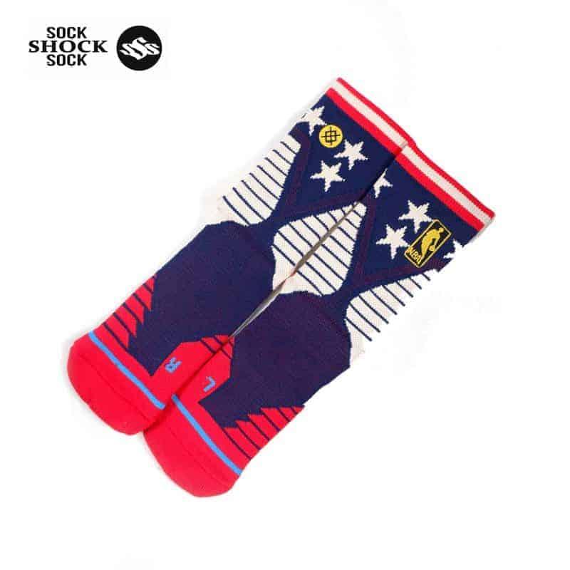 Tất bóng rổ Stance NBA MID 6 Stars American SP000347 _2