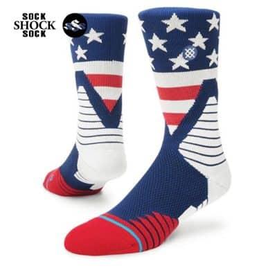 Tất Bóng Rổ Stance Fusion SP28 American Flag-SP000299